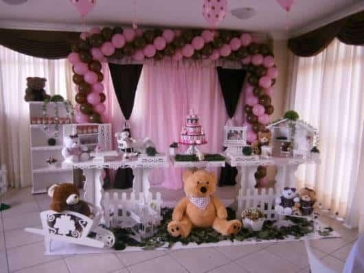 modelo de decoração jolie rosa e marrom