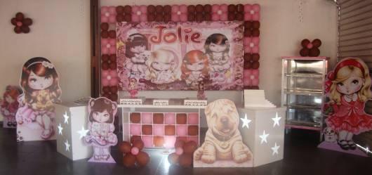 painel decoração da jolie