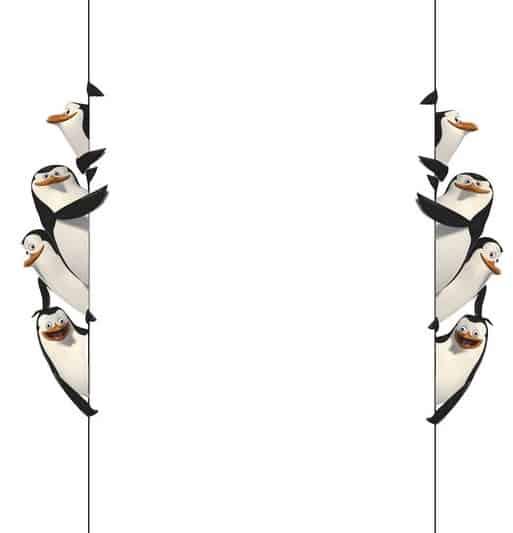 convite pinguins de madagascar