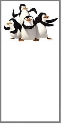 convite para imprimir pinguins de madagascar