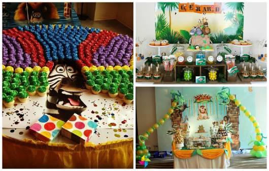 ideias de decoração festa madagascar