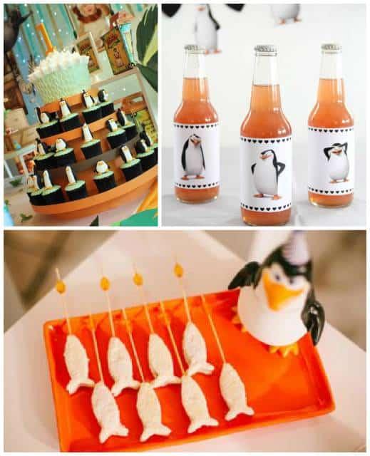 ideias para festa pinguins de madagascar