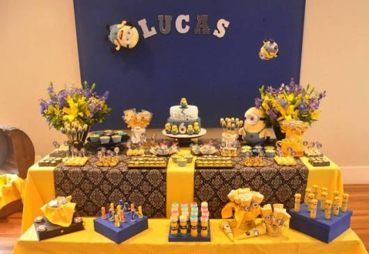 festa azul e amarela meu malvado favorito