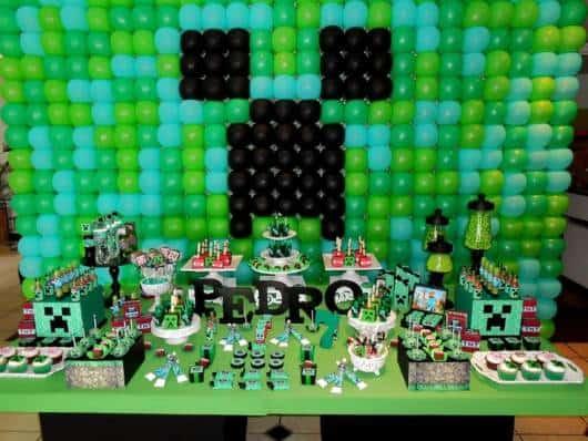 festa minecraft verde