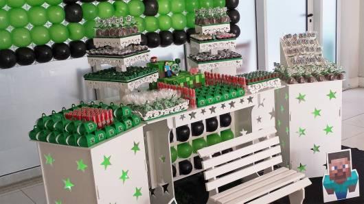 decoração provençal festa minecraft