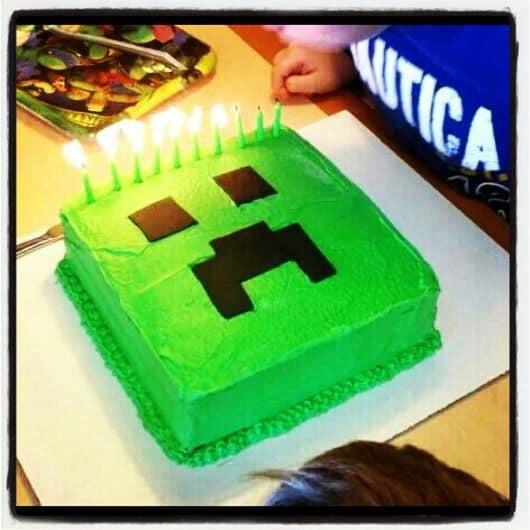 Festa minecraft infantil tudo que voc precisa for Easy halloween cakes to make at home