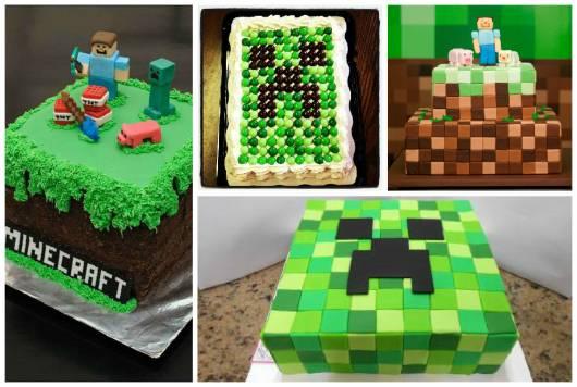 ideias para bolo minecraft