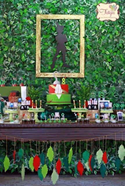 festa peter pan verde e vermelho