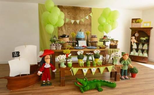 festa marrom e verde peter pan