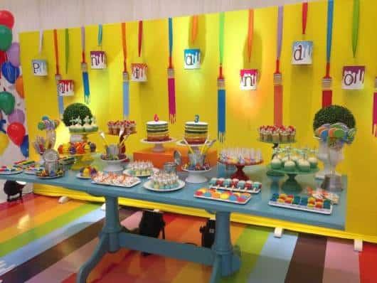 decoração festa pintando o sete
