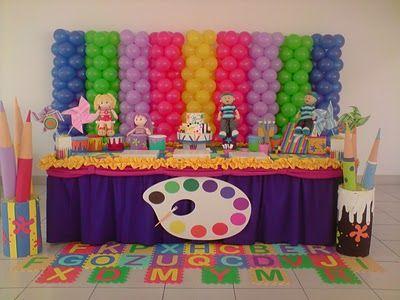 festa colorida e fácil  pintando o 7