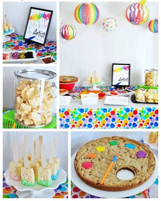 ideias para festa simples  pintando o sete