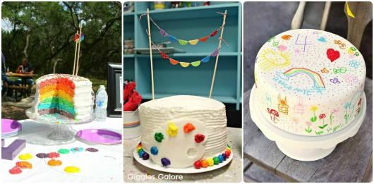 bolo simples festa  pintando o sete