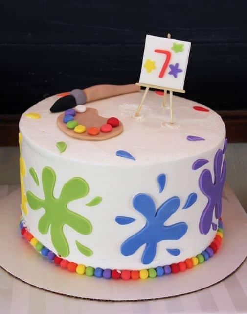 bolo pasta americana para festa  pintando o sete