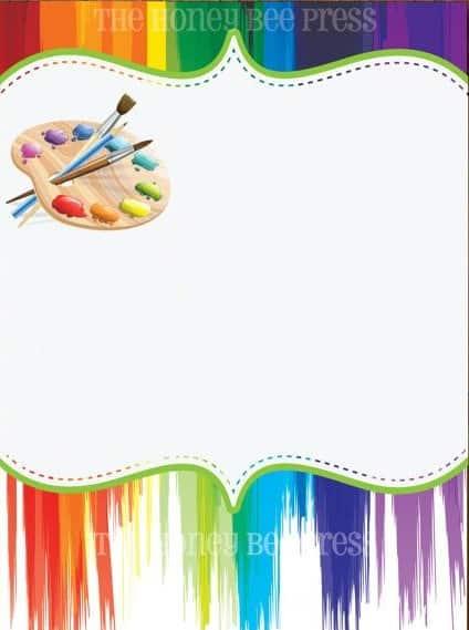 convite festa pintando o 7