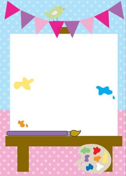 convite festa pintando o sete para imprimir