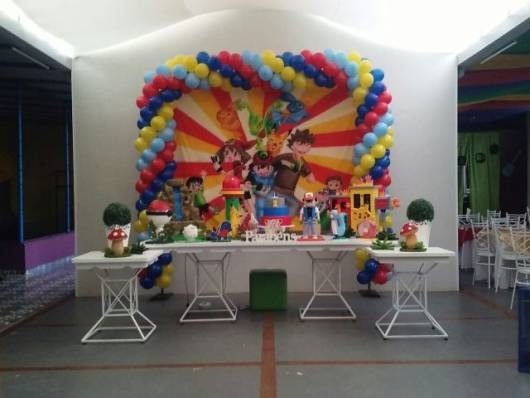 decoração colorida e infantil