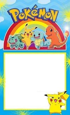 convite para imprimir pokemon