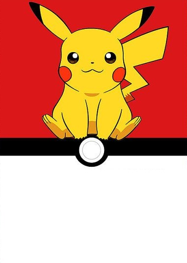 convite para imprimir pokemon pikachu
