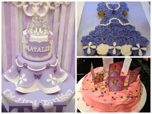 bolos diferentes princesa Sofia