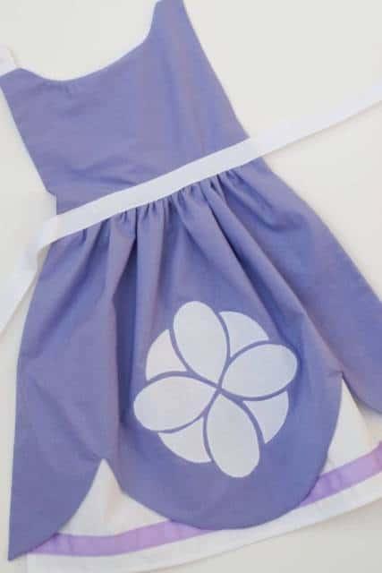 vestido simples princesa Sofia