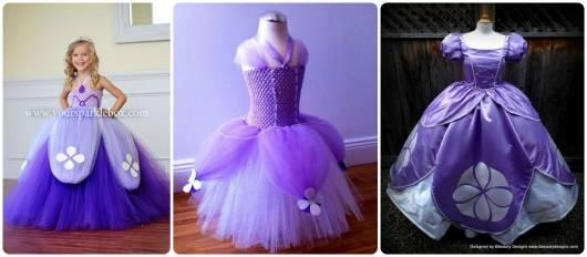 modelos de vestidos da princesa Sofia