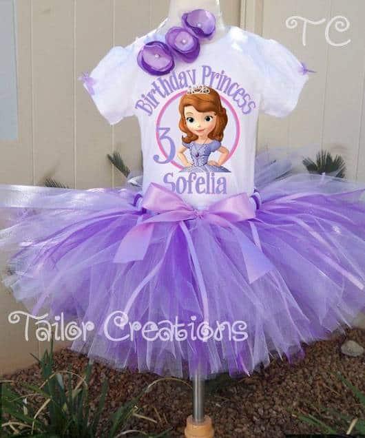 como fazer vestido da princesa Sofia