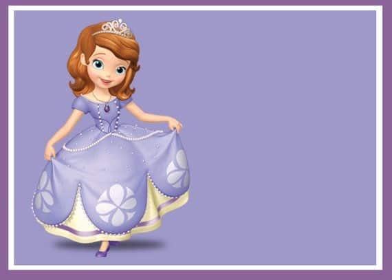 convite para imprimir princesa Sofia