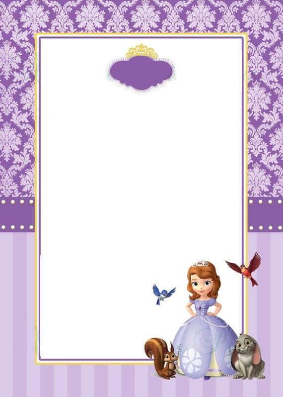 moldura convite princesa Sofia