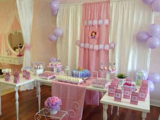 festa provençal simples princesa Sofia