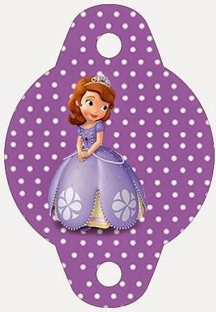 enfeite canudo kit festa princesa Sofia