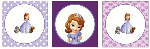 rótulo kit festa princesa Sofia