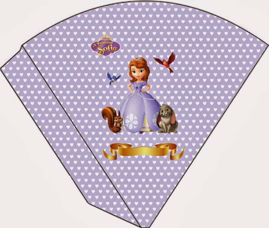 cone de kit festa da princesa Sofia