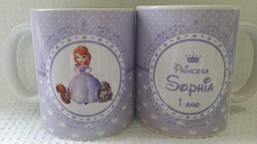 caneca personalizada princesa Sofia