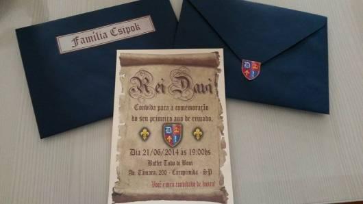 convite festa rei arthur