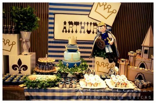 festa azul rei arthur