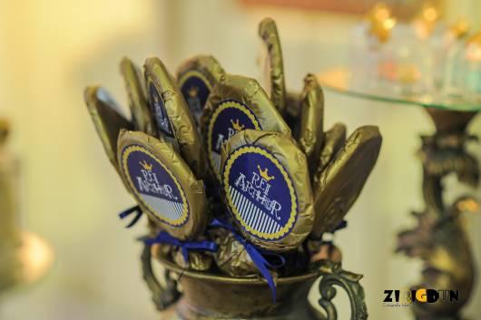 lembrancinha personalizada festa do rei arthur