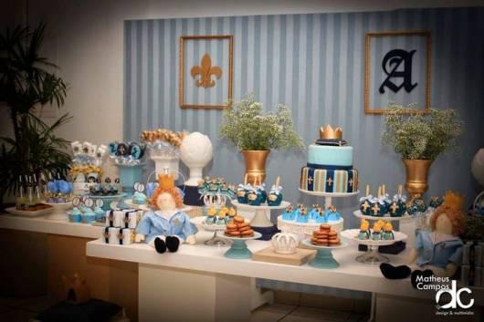festa rei arthur azul claro