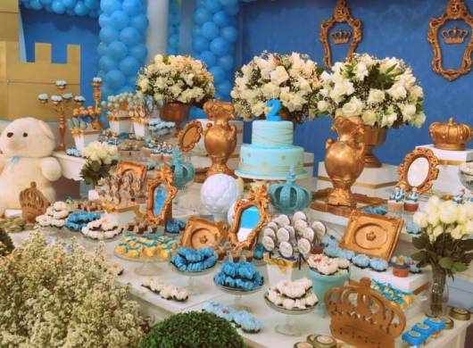festa azul e dourada rei davi
