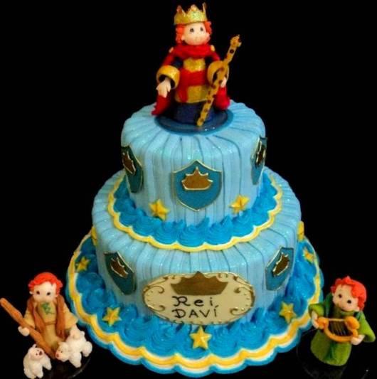 bolo decorado rei davi