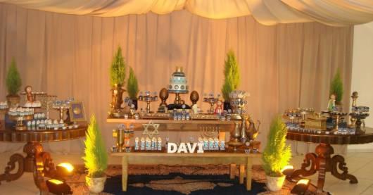 decoração festa rei davi
