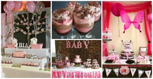 ideias de decoração festa rosa e marrom
