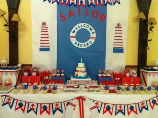 decoração de festa ursinho marinheiro