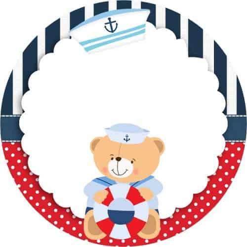 modelo de topo de cupecake ursinho marinheiro