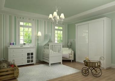 móveis para quarto de bebê amplo