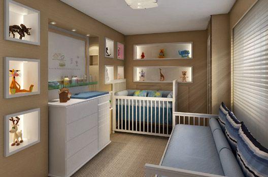 cama de apoio no quarto de bebê
