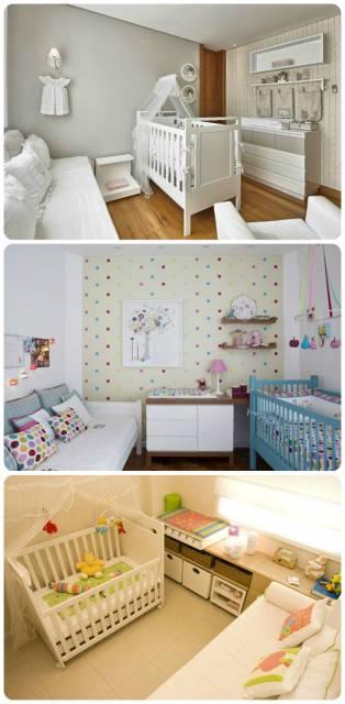 combinação móveis quarto de bebê