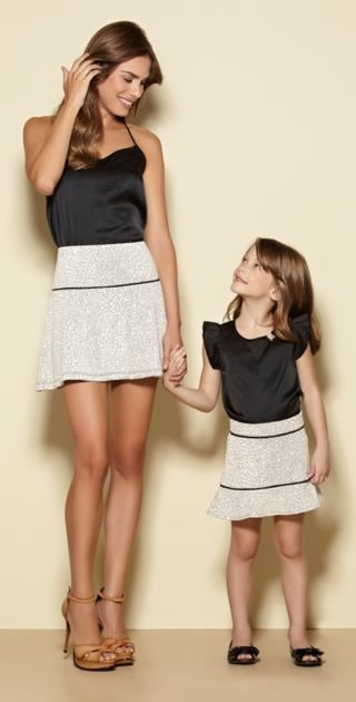 roupa combinando de mãe e filha
