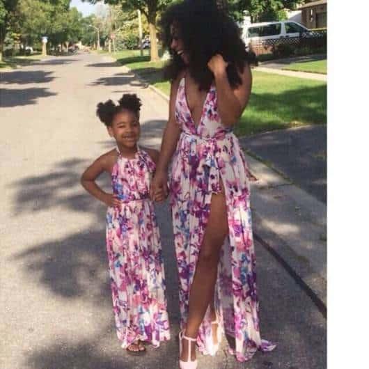 vestido longo mãe e filha
