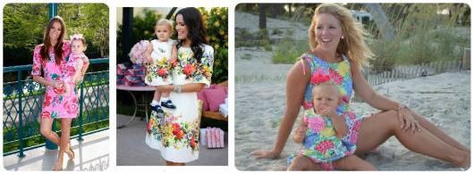 vestidos tal mãe, tal filha